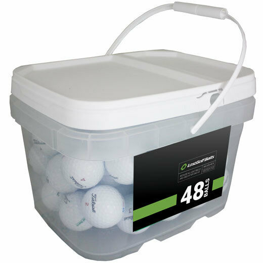 48 Titleist Pro V1x 2016 Golf Balls *No Markings or Logos* *In a Free Bucket!*