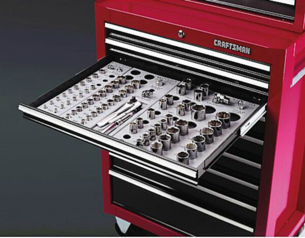 Craftsman Wrench Socket Organizer Set 6-Tray Divider Holds 195 Storage Toolbox