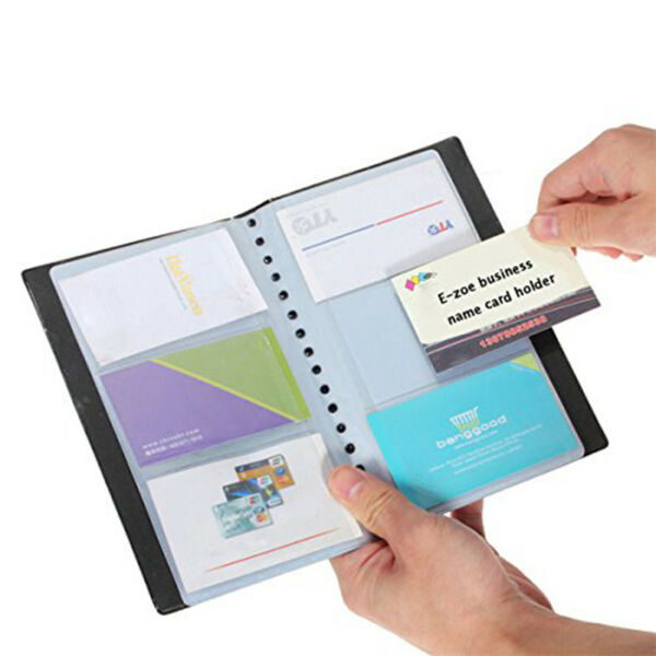 Office 120 Cards Business Name ID Credit Card Holder Book Case Keeper Organizer
