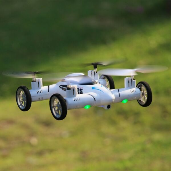 Large HD WiFi FPV Camera Car Drone X25 2.4Ghz 8CH 6-Axis RC Quadcopter White