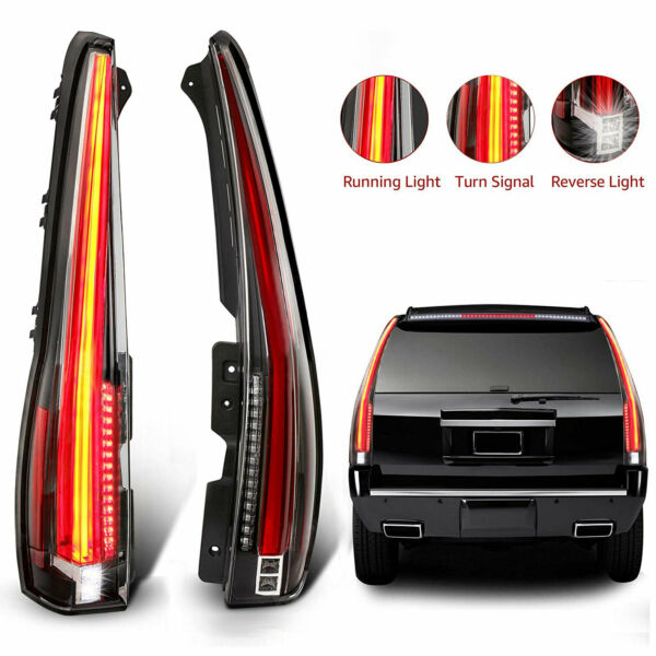 LED Tail Lights For Cadillac Escalade 2007-2014 Rear Lamp 2016 Version Assembly