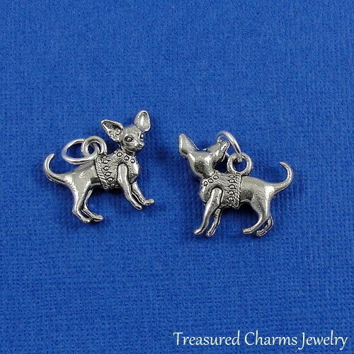 Silver Chihuahua Puppy Dog Charm Pendant *NEW* $8.95