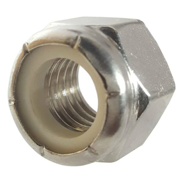 Stainless Steel Nylon Insert Hex Lock Nuts Nylock All Sizes and Quantities $13.43