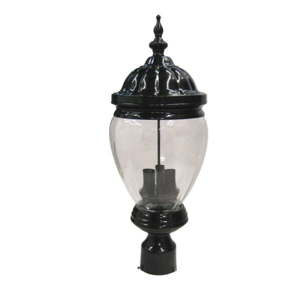 Black Cast Aluminum Exterior Post Top 23.5quot; H X 8.5quot; W