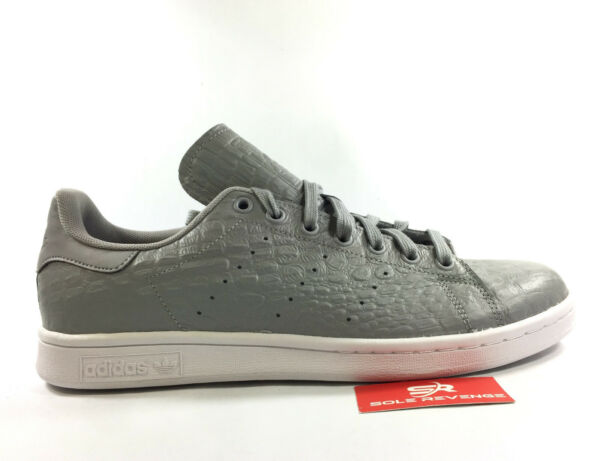 NEW adidas Originals STAN SMITH SNAKESKIN Pattern Gray White AQ2728 c1 rod laver