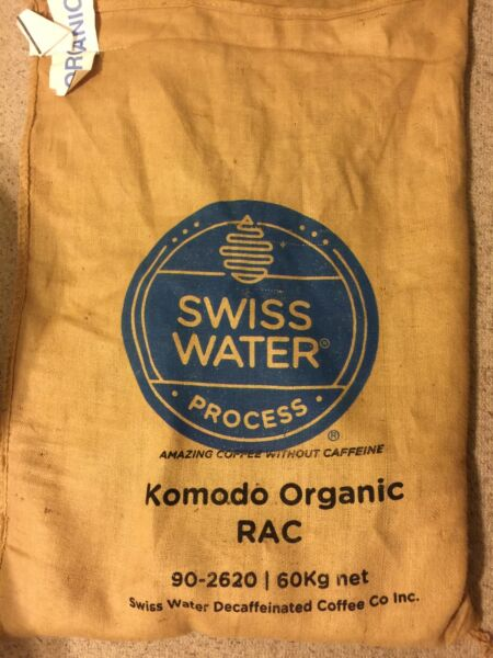 2 lbs. Komodo Cerified ORGANIC DECAF Green Coffee Beans Swiss Water Process 2017