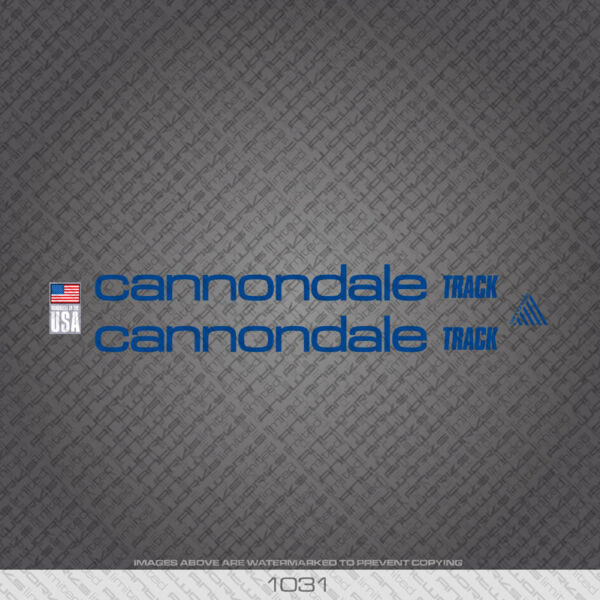 01031 Cannondale Track Bicycle Stickers Decals Transfers Blue GBP 14.99