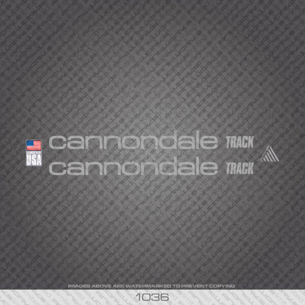 01036 Cannondale Track Bicycle Stickers Decals Transfers Silver GBP 14.99