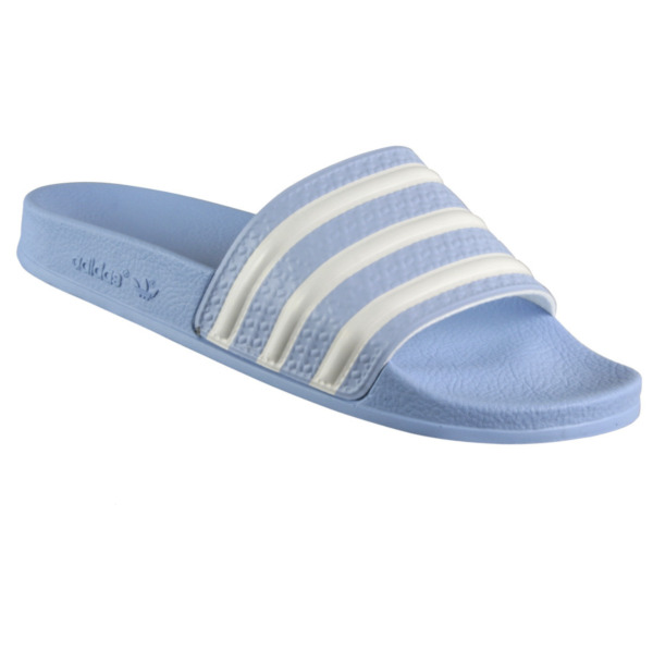 New WOMENS Adidas ADILETTE Slides Sandals Blue White Beach Flip Flops 675261 unc