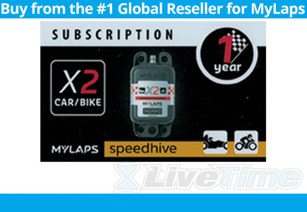 MyLaps X2 Subscription 1 year Renewal Card for Car Bike Rechargeable Transponder $94.50