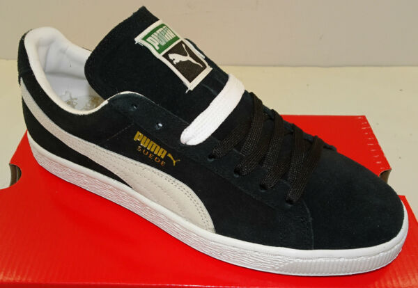 PUMA Suede Classic + Men's Casual Shoe 352634-03 Black White NEW