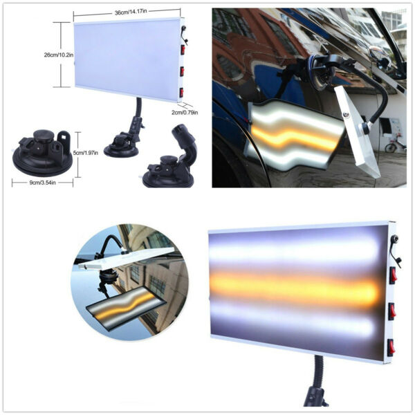 PDR Tools LED Light Paintless Dent Repair Hail Removal 3 Strips Car Body Lamp