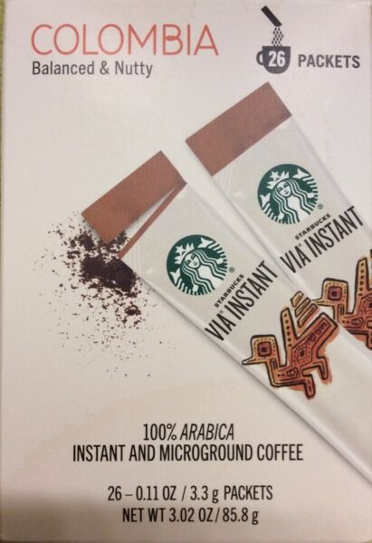 Starbucks VIA Instant Med Roast Coffee 104 pks +FREE WORLDWIDE PRIORITY SHIPPING