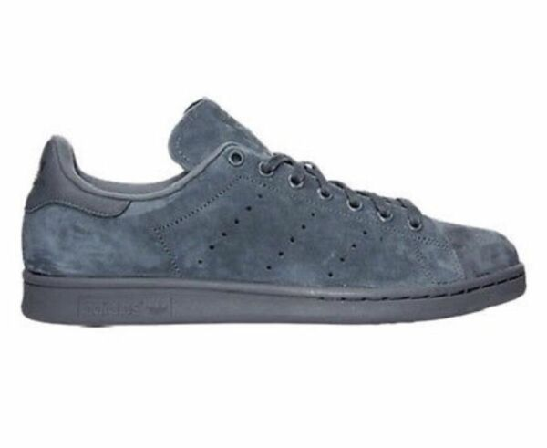 Adidas Original classic Stan Smith Suede Onyx / gray  mens sneaker SHOES new