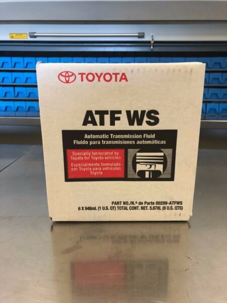 6 PACK LEXUS SCION TOYOTA GENUINE ATF WS TRANSMISSION FLUID 00289-ATFWS