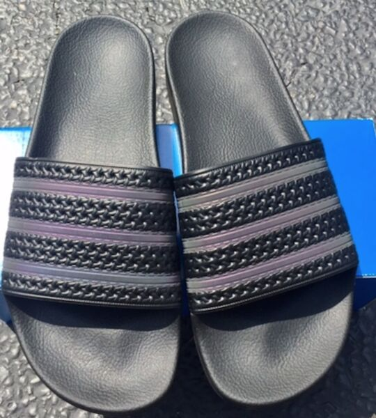 NEW! Adidas adilette XENO Slides BB0116 Triple Black Sandal Flip Flops Slide