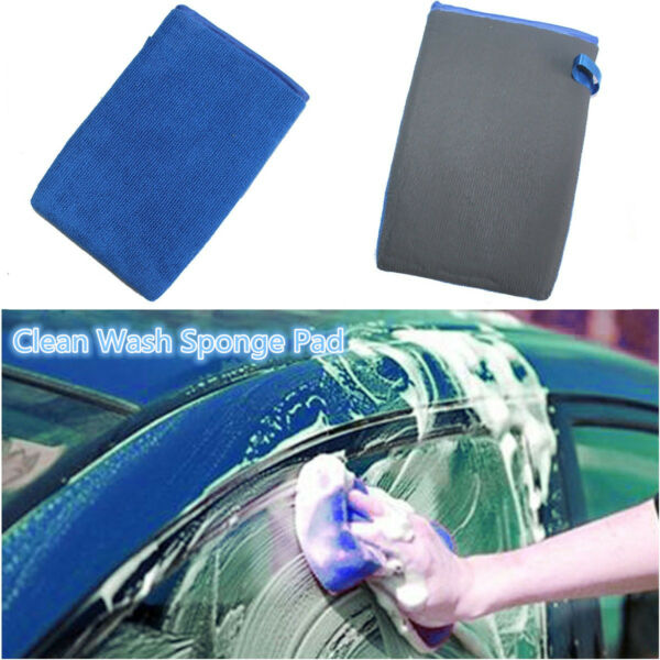 Car Clean Wash Magic Clay Mitt Cloth Care Cleaning Towel Microfiber Sponge Pad