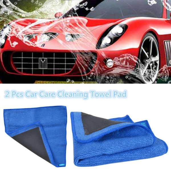 2 x Car Wash Magic Clay Mitt Cloth Care Cleaning Towel Microfiber Sponge Gloves
