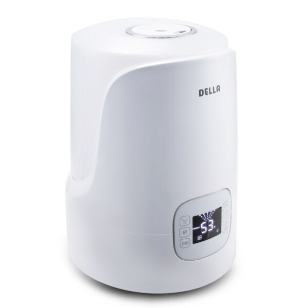 Cool & Warm Mist 4.5L Ultrasonic Air Humidifier Home Portable wLED Timer White