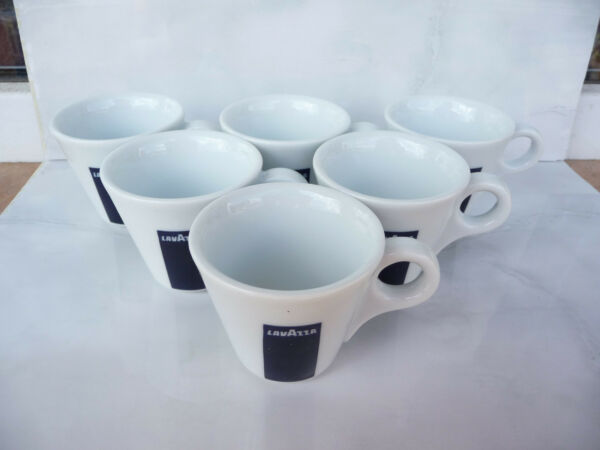 6pcs Lavazza Coffee espresso set of 6 cups ipa Italy used rare only cups