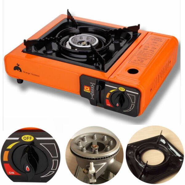 Portable Butane Stove Outdoor Picnic Camping Gas Burner Cooktop Range $26.99