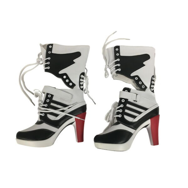 Harley Quinn Womens Boots Shoes Costume Suicide Squad Cosplay Movie High Heels $69.79