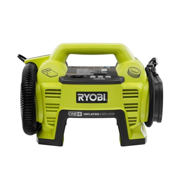 Ryobi 18V Cordless Portable Air Compressor Inflator/Deflator Car Bike Tire Pump