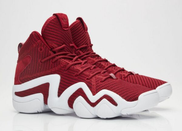 NEW! adidas CRAZY 8 Primeknit PK Basketball Shoes BY4366 Burgundy Red White