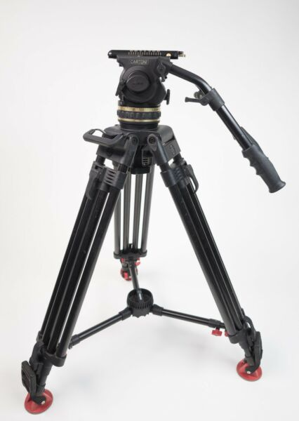 Cartoni Delta Head with Sachtler CF-100 Carbon Fiber 2-Stage Tripod Legs