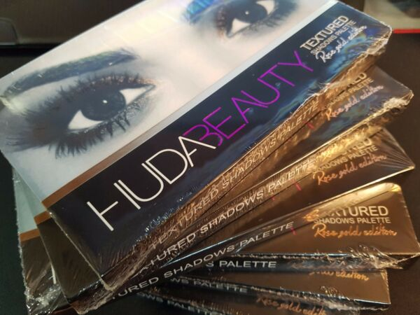 Huda Beauty Rose Gold Palette Glister Textured Shadows Palette Fast Free Shippin