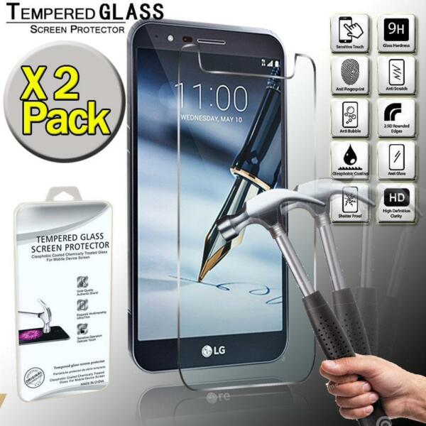 2 Pack Tempered Glass Screen Protector Cover For LG Stylo 3 Plus