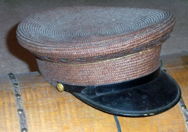 Vintage Antique POLICEMANS CAP HAT with POLICE BUTTONS