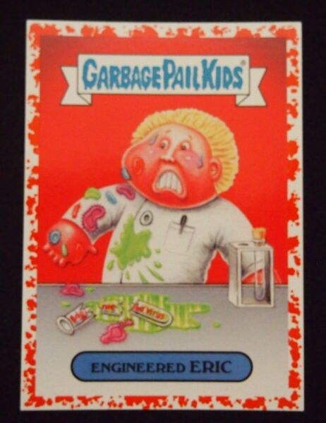 Garbage Pail Kids Adam-Geddon Red Bloody Nose Boarder Engineered Eric 5a Bio 75