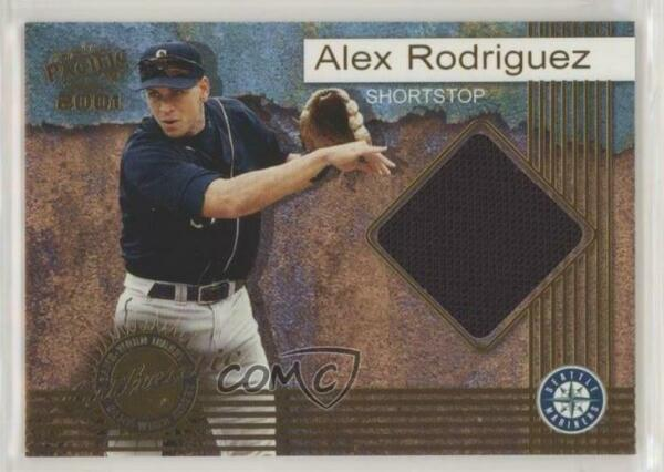2001 Pacific Game-Worn Jerseys #8 Alex Rodriguez Seattle Mariners Baseball Card