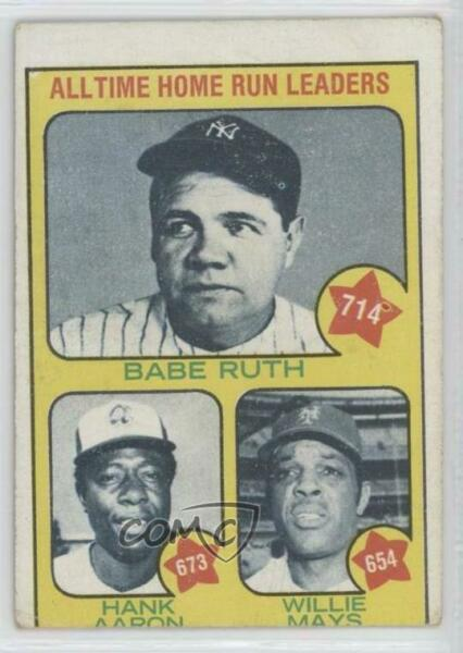 1973 Topps #1 Babe Ruth Hank Aaron Willie Mays All Time Home Run Leaders ( )