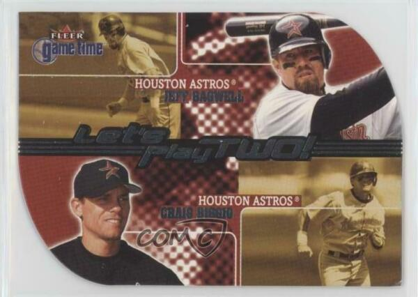 2001 Fleer Game Time Let's Play Two! #11LT Jeff Bagwell Craig Biggio Card