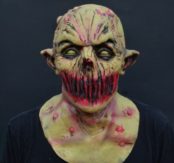 Creepy Scary Halloween Zombie Mask Latex Deadly Silence Demon