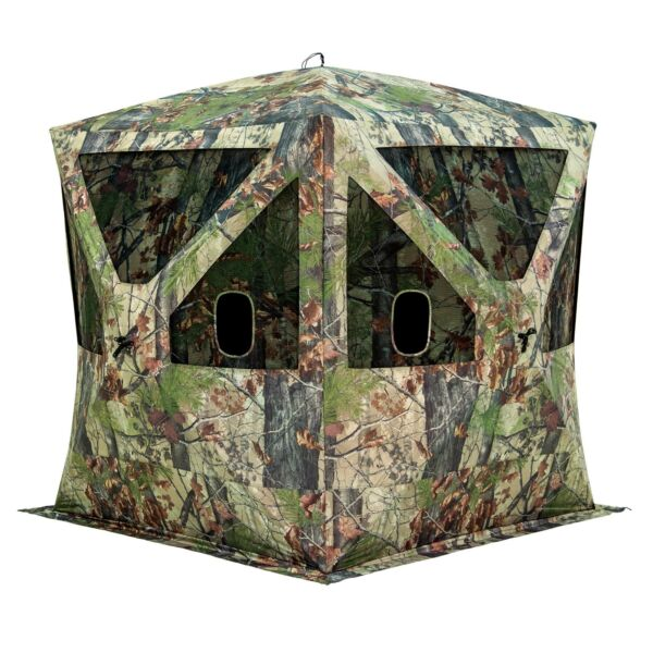 Barronett Blinds Big Cat 350 3 Person Pop Up Hunting Blind Tent Backwoods Camo