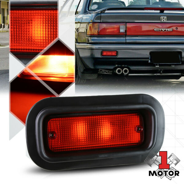 Red Rear Bumper Driving Fog Light Lamps for 94-01 Integra88-00 CivicDel Sol