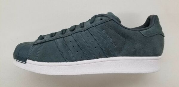 ADIDAS ORIGINALS SUPERSTAR DARK GREEN SUEDE RETRO CLASSIC MENS SNEAKERS BZ0200