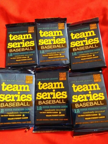 6 PACKS COLLECTIBLE Sports Mem, Cards & Fan Shop > BASEBALL Trading Cards