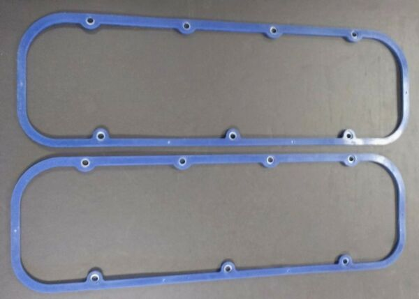 CHEVROLET BIG BLOCK ENGINE BLUE SILICONE WITH STEEL CORE VALVE COVER GASKETS SET