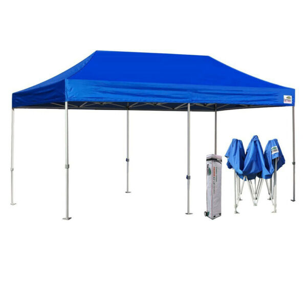 10x20 Ez Pop Up Canopy Outdoor Commercial Weeding Party Tent wWheeled Bag