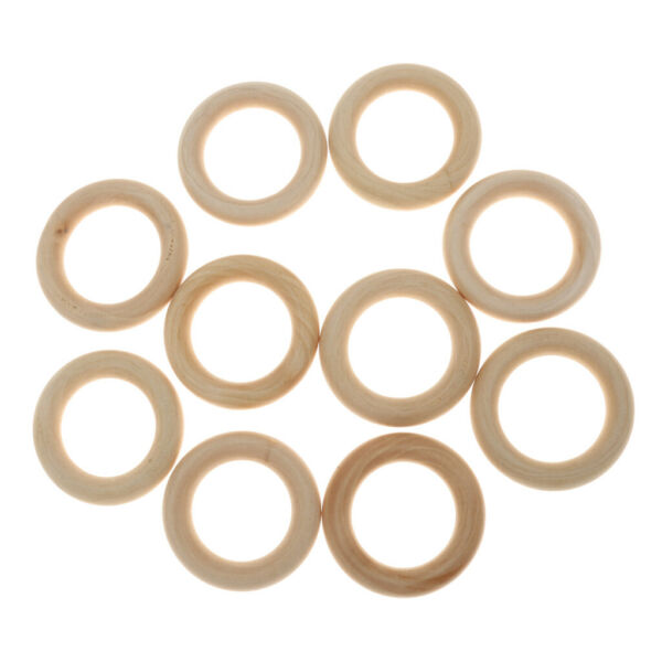 10 20 50 100pcs Wood Ring Wooden Loop Wood Material for Jewelry Making Findings $7.92