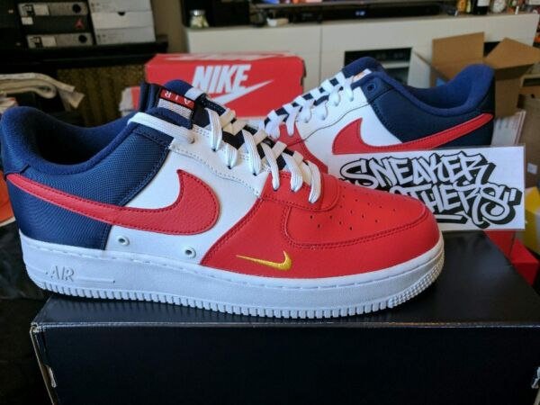 Nike Air Force One 1 '07 LV8 Low Red Navy Gold Blue White 4th of July 823511-601