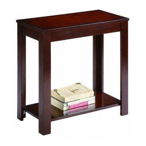 New Style Side Table Chair End Wood Stand Living Room Espresso Nightstand US $33.99