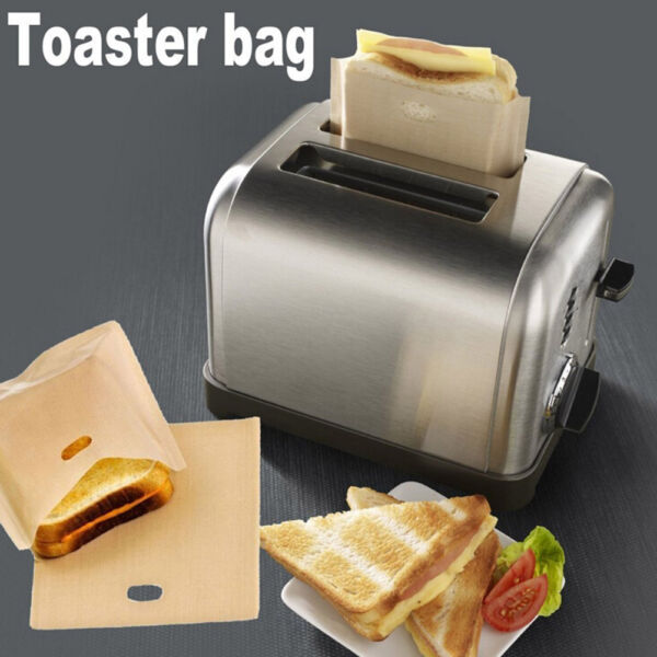 Sandwich Toaster Toast Bags Non-Stick Reusable Safety Heat-Resistant 2pcs Xed