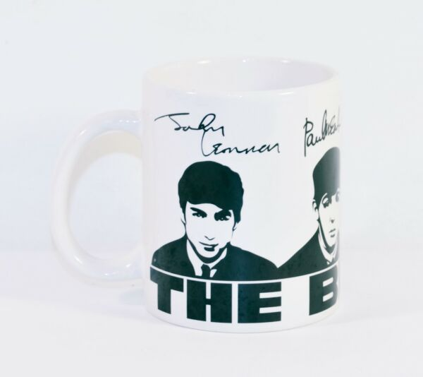 The Beatles Coffee Mug Cup Collectors Produced by Rock Off White and Black