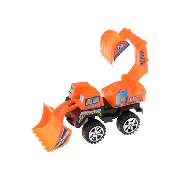 Small Forklift Truck Excavator Vehicle Bulldozer Toy Car Model gift