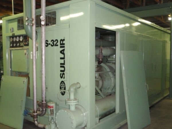 Sullair TS32 600 hp. Rotary Screw air compressor low hours Variable capacity